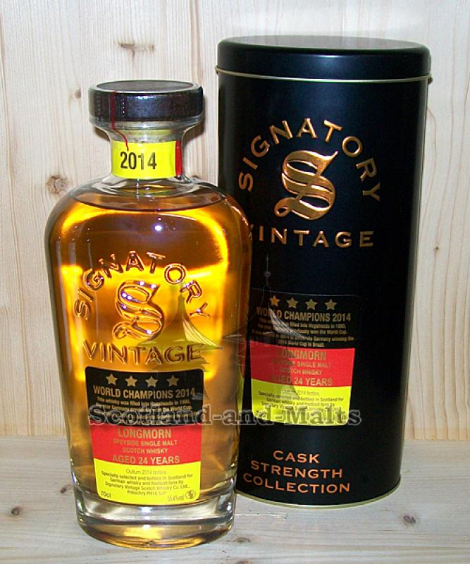 Longmorn 1990 - 2014 WM Edition mit 55,4% - World Champions 2014 (Signatory)