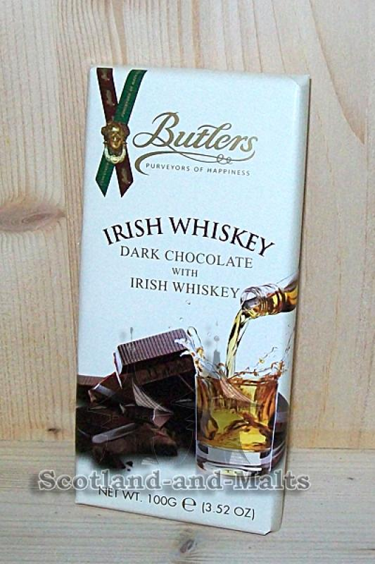 Irish Whiskey - Dark Chocolate with irish Whiskey / irische Whiskey Schokolade mit irischem Whiskey von Butlers