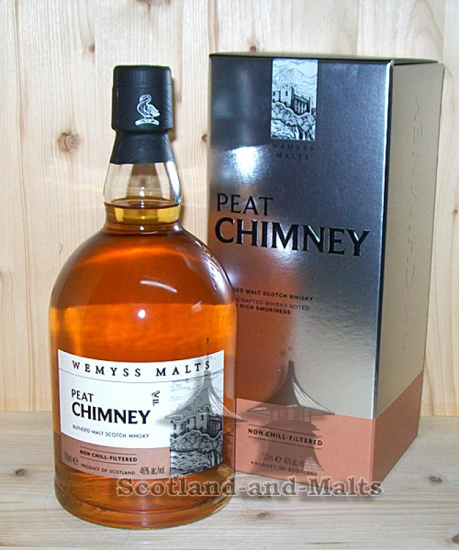 Wemyss Malts - PEAT CHIMNEY 46% - Handcrafted Scotch Malt Whisky