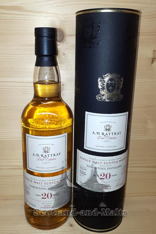 Tomintoul 1996 - 20 Jahre Bourbon Hogshead No. 96 mit 50,5% - A.D.Rattray