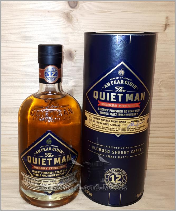 Quiet Man 12 Jahre Sherry Finished - Irish single Malt Whiskey mit 46%