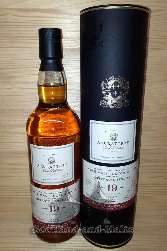 Dufftown 1998 - 19 Jahre Bourbon Hogshead No. 867 + finished in STR Wine Cask mit 53,0% - A. D. Rattray