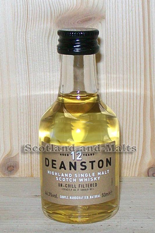 Deanston 12 Jahre Highland single Malt Whisky - Miniatur