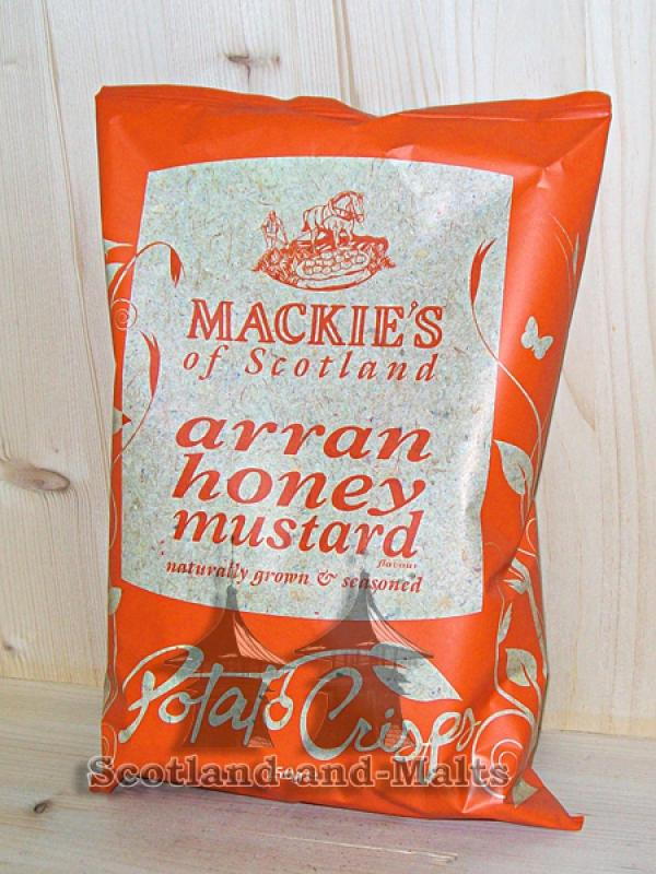 Mackies of Scotland - Honey and Mustard - 150g Potato Crisps