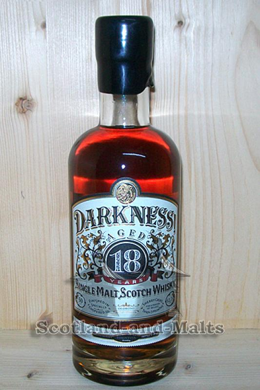 Tomintoul 18 Jahre - 3 Monate Oloroso Sherry Cask mit 52,7% - Darkness Limited Edition