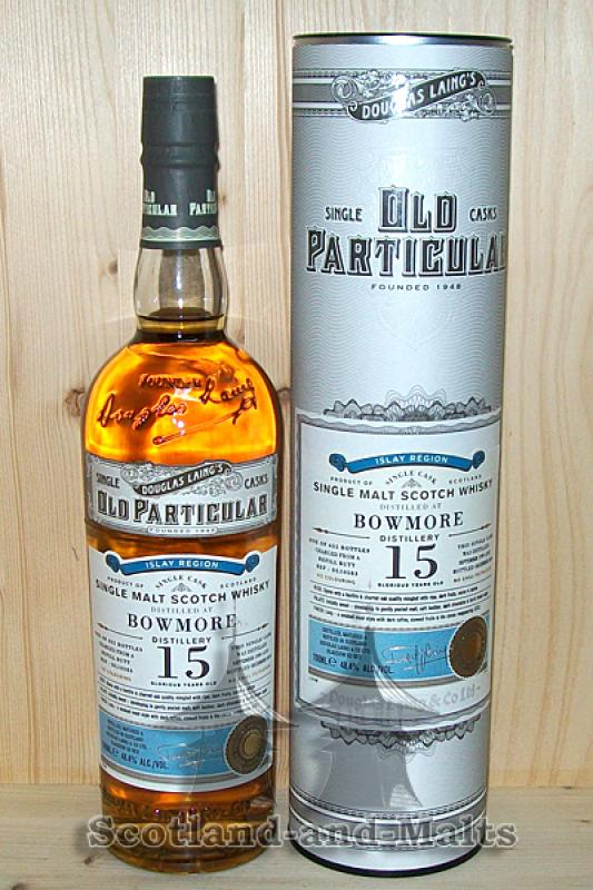 Bowmore 1999 - 15 Jahre Refill Butt Ref - DL10583 - Old Particular Douglas Laing