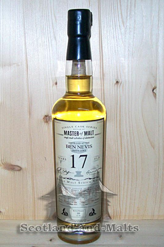 Ben Nevis 1996 - 17 Jahre refill Bourbon Hogshead 51,4% - Master of Malt Single Cask Bottlings