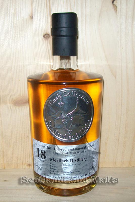 Mortlach 1997 - 18 Jahre Bourbon Hogshead + Sherry Cask Finish mit 55,6%