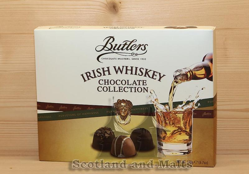 Irish Whiskey Chocolate Collection von Butlers - 190g Pralinenmischung mit irischen Whiskey